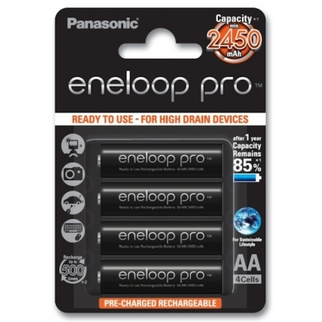 ENELOOP Pro Battery Pack with 4 AA Batteries 2450mAh