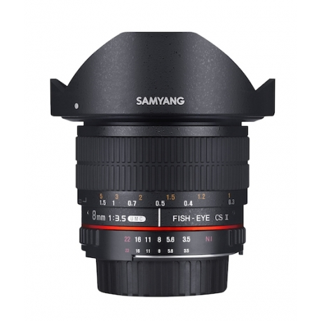 SAMYANG 8mm F3.5 CSII AE Ver. Fisheye Lens with Removable Hood for NIKON