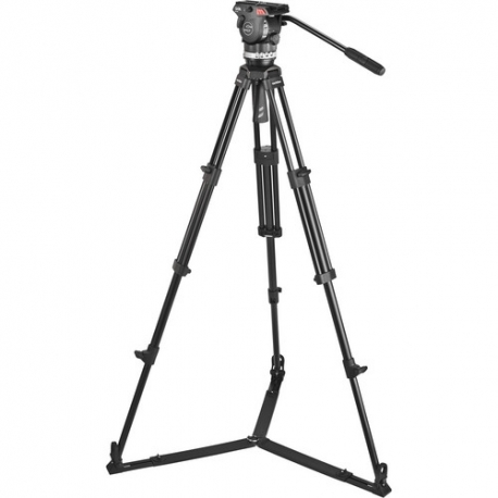 Sachtler 1002 Ace Fluid Head with 2-Stage Aluminum Tripod & On-Ground Spreader