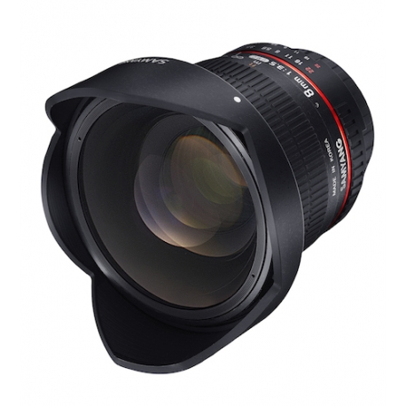 SAMYANG 8mm F3.5 CSII Fisheye Lens with Removable Hood for Canon