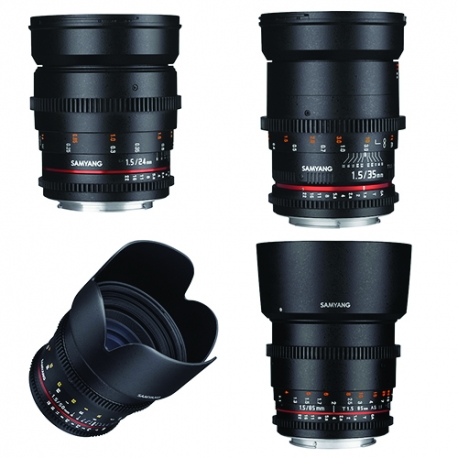 SAMYANG 24, 35, 50, 85mm VDSLR II Lens Kit 1