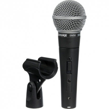 Shure SM58S Cardioid Hanheld Dynamic Microphone with Switch