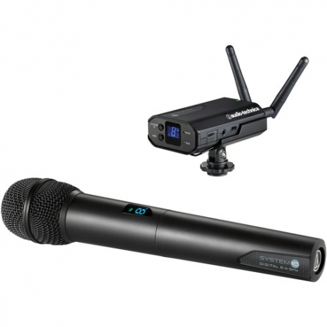 Audio-Technica ATW-1702 Camera Mount Digital Wireless Microphone System with Handheld Mic