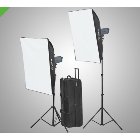 Visico VL-200 Soft Box Flash Kit