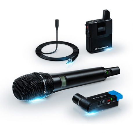 Sennheiser AVX-COMBO Camera-Mountable Digital Wireless Handheld and Lavalier Set