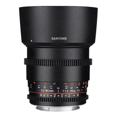 SAMYANG 85mm T1.5 AS IF UMC VDSLR II Lens