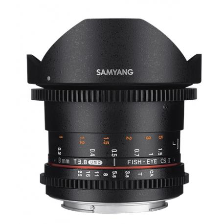SAMYANG 8mm T3.8 Fisheye VDSLR II Lens