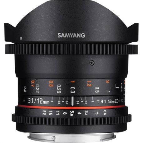 SAMYANG 12mm T3.1 Fisheye VDSLR Lens