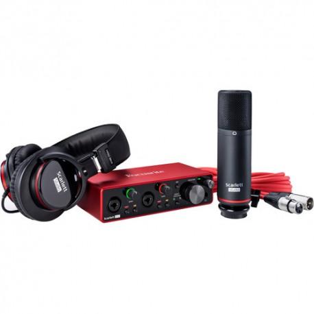 Focusrite Scarlett 2i2 Studio 2x2 USB Audio Interface with Microphone & Headphones (3rd Generation)